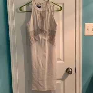White/nude BeBe dress